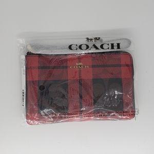 Coach side zip wristlet